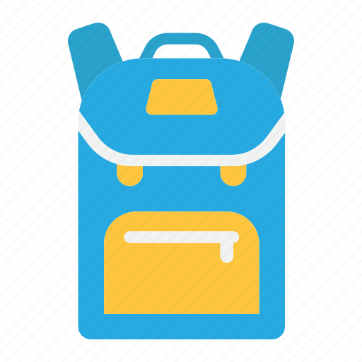 backpack, bag, education, school, student, tourism, travel icon