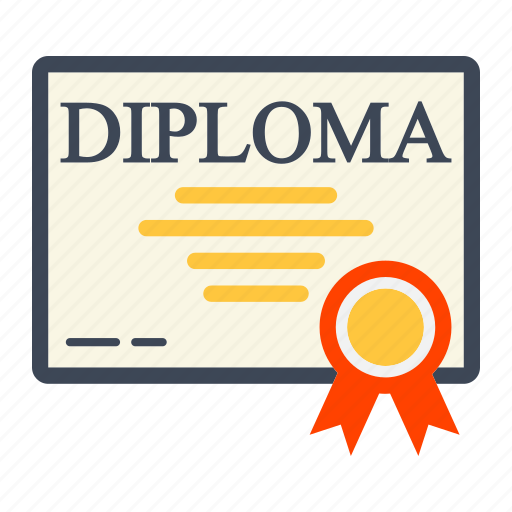 Award, certificate, diploma, document, education, graduation, ribbon icon - Download on Iconfinder
