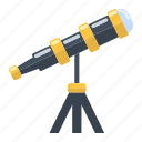 astronomy, discovery, education, planetarium, science, spyglass, telescope icon