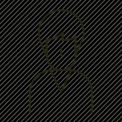 boy, kid, line, studeny icon