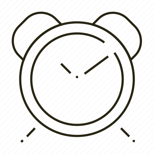 clock, line, time icon