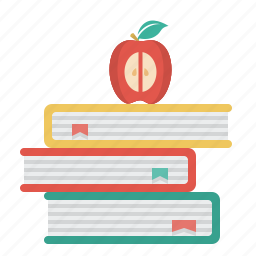 apple, books, education, science icon
