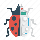 beetle, bug, education, electronic, science icon