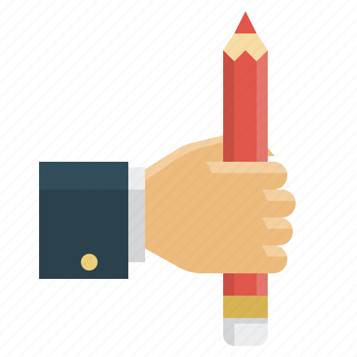 education, hand, pencil, science icon