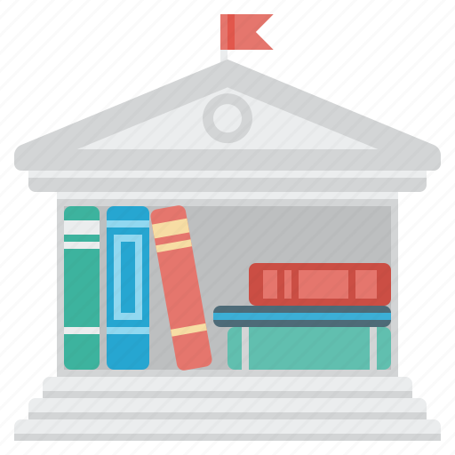 books, education, library, science, university icon