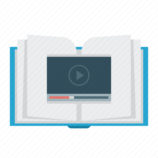 book, education, science, video icon