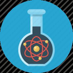 atoms, education, flask, science, vitro icon