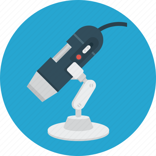 education, electron, microscope, science icon