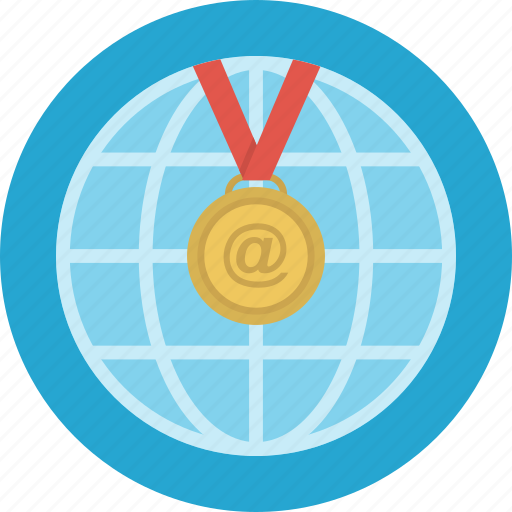 education, electronic, internet, medal, reward, science icon