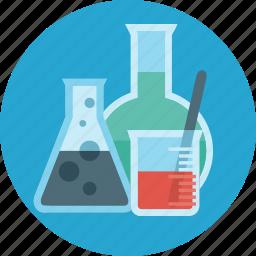 chemistry, education, flask, lab, laboratory, science, tube icon