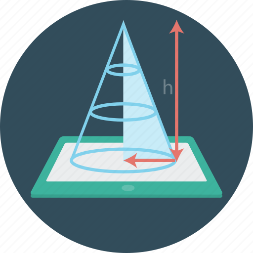 education, geometry, science, tablet icon