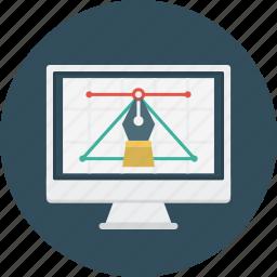 design, education, graphic, monitor, science icon