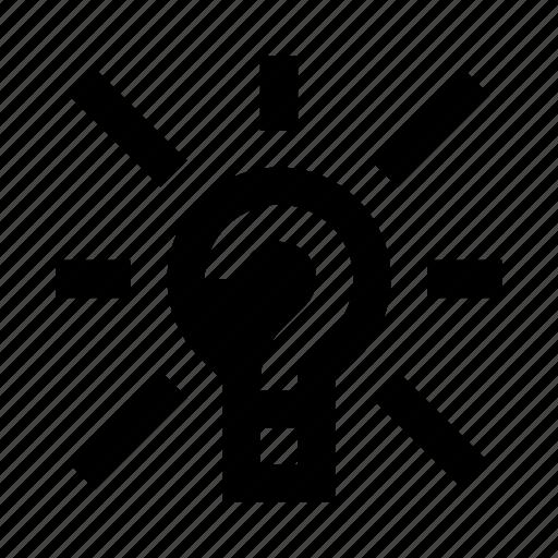 idea, lightbulb, mark, question icon