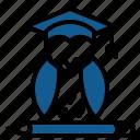 education, graduation, knowledge, master, professor, science, university icon