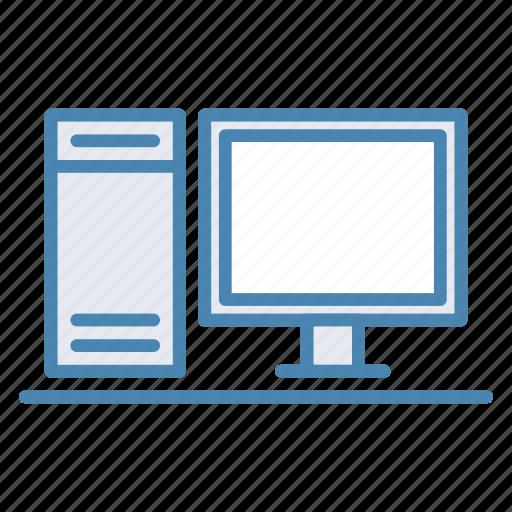 computer, desktop, display, monitor, pc icon