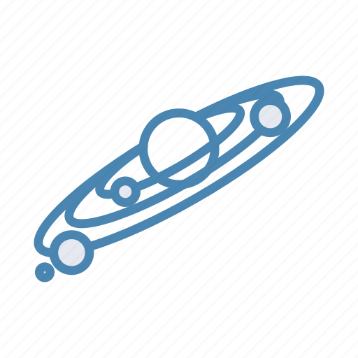 cosmos, planet, solar system, space icon