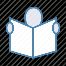 education, knowledge, reading, study icon