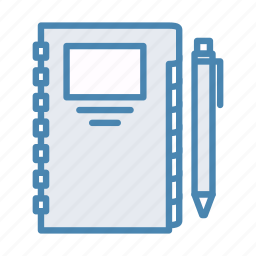 address book, book, contacts, edit, notebook, pencil, writing icon