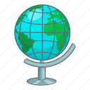 cartoon, earth, global, globe, map, planet, sign icon