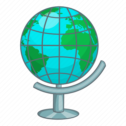Cartoon, earth, global, globe, map, planet, sign icon - Download on Iconfinder