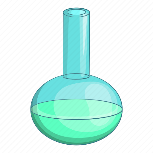 cartoon, equipment, experiment, flask, object, sign, test icon