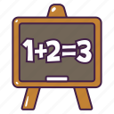 board, chalk, education, lesson, math, write icon