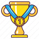 achievement, champion, education, medal, trophy, win icon