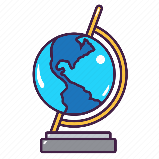 education, geography, globe, map, tool, world icon