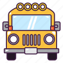 bus, education, school, student, transportation, vehicle icon