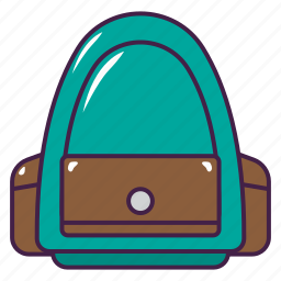 backpack, bag, education, school, stuff icon
