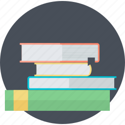 book, education, flat design, learning, library, school, university icon