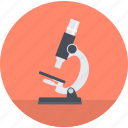 education, flat design, knowledge, laboratory, research, round, science icon