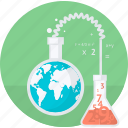 education, laboratory, research, round, science, test icon
