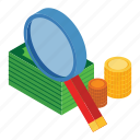 and, business, education, fee, isometric, loop, money icon