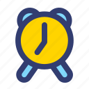 clock, education, filled, line, time icon