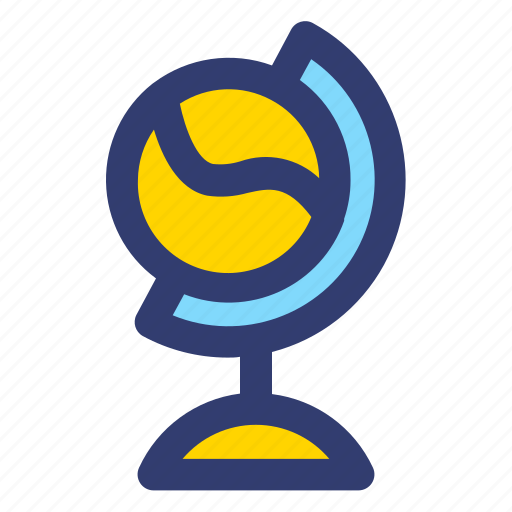 Education, filled, globe, line icon - Download on Iconfinder