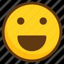 avatar, cheerful, emoji, emoticon, emotion, smile, smiley