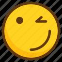 avatar, cool, emoji, emoticon, smile, smiley, wink