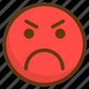 angry, avatar, emoji, emoticon, emotion, smile, smiley