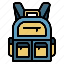 backpack, camping, travel, education