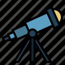 telescope, astronomy, education, moon