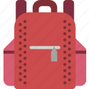 back, education, knowledge, learning, pack, school, study icon
