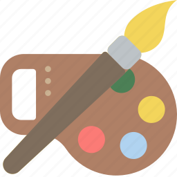 education, knowledge, learning, paint, school, study icon