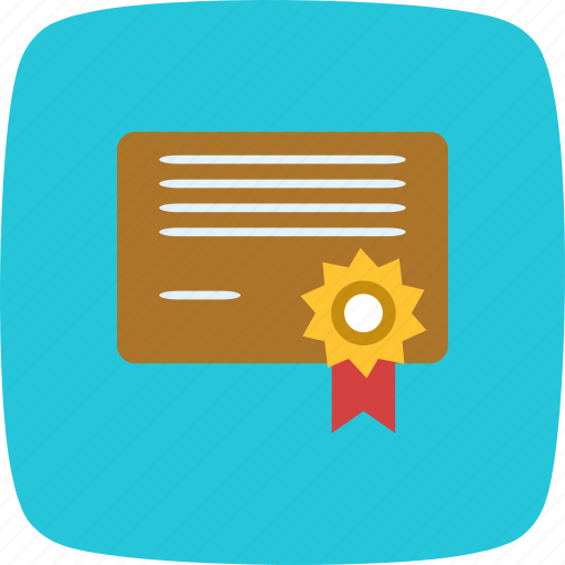 certification, degree, diploma, graduation icon