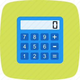 accounting, calculation, calculator, device, digital, mathematics, technology icon