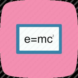 education, formula, learning, study icon