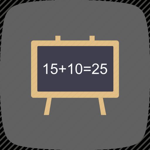 black board, chalk board, class room icon