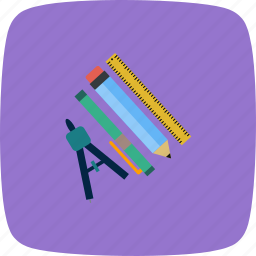 education, geometry, geometry set, scale icon