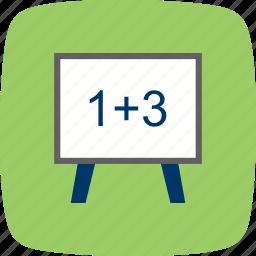 education, formula, learning, white board icon