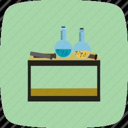 chemistry, equipment, flask, laboratory icon